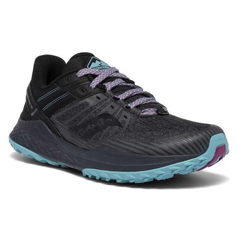 Saucony Women's Mad River TR 2 Trail Shoe - Charcoal/Marine