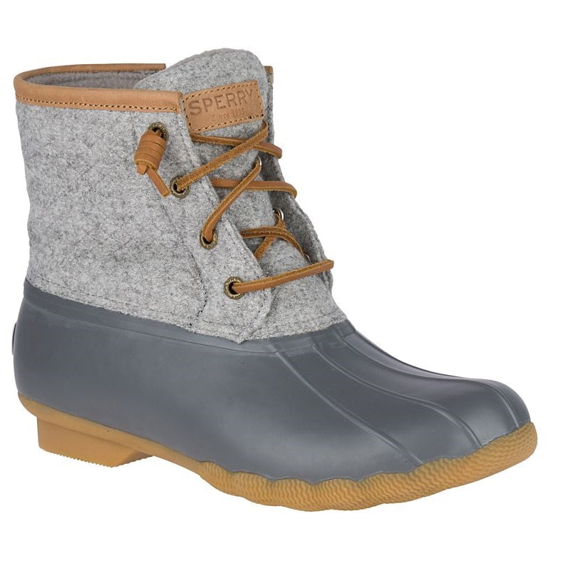 Sperry Women's Saltwater Wool Embossed Duck Boot w/ Thinsulate™ - Grey