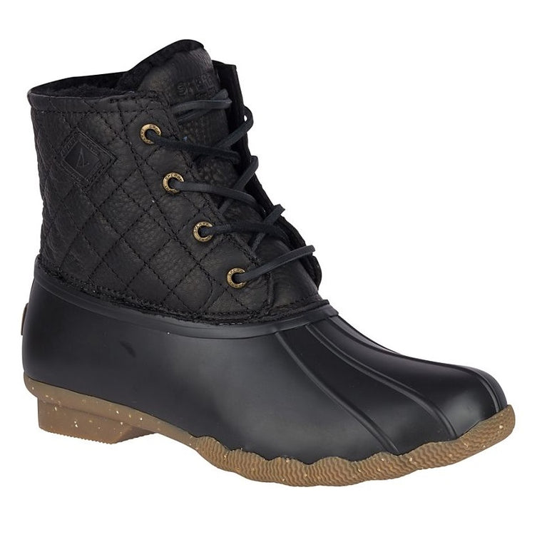 Sperry Women's Saltwater Winter Luxe Duck Boot - Black Quilt
