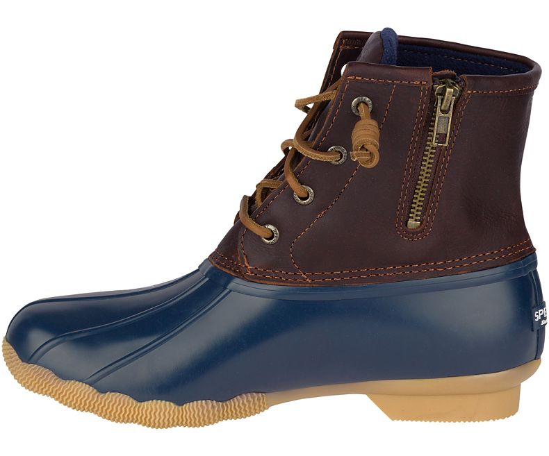 Sperry Women's Saltwater Duck Boot - Tan/Navy