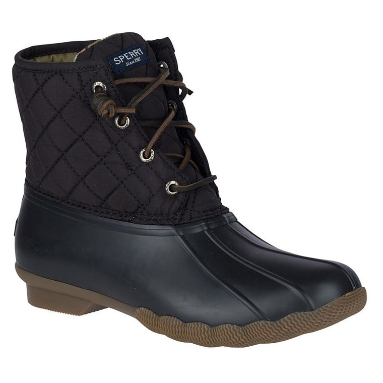 Sperry Women's Saltwater Quilted Duck Boot - Black