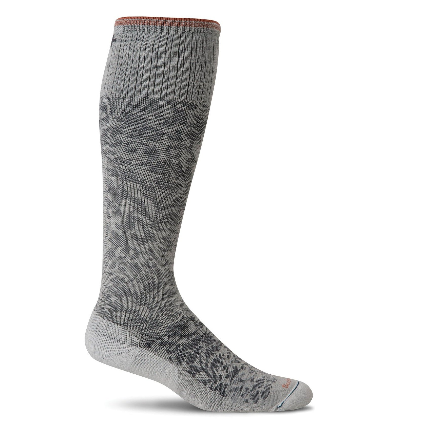 Sockwell Women's Damask Graduted Compression Socks - Oyster