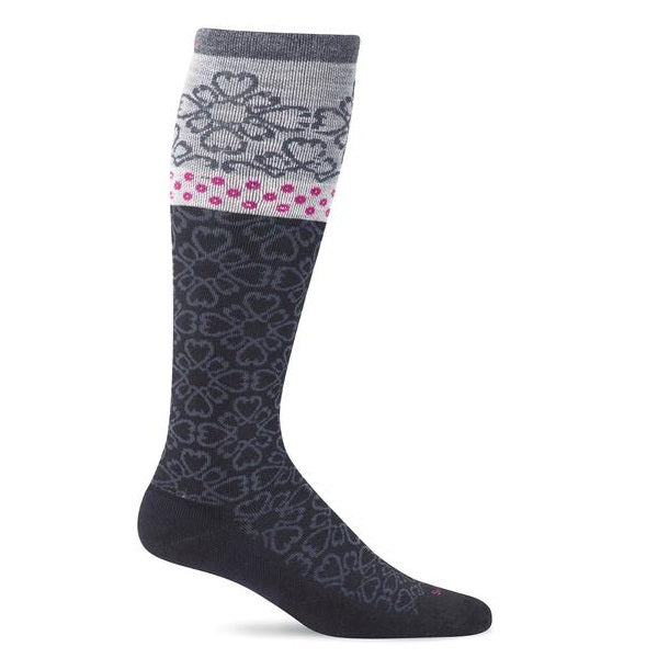 Sockwell Women's Botanical Graduted Compression Socks - Black