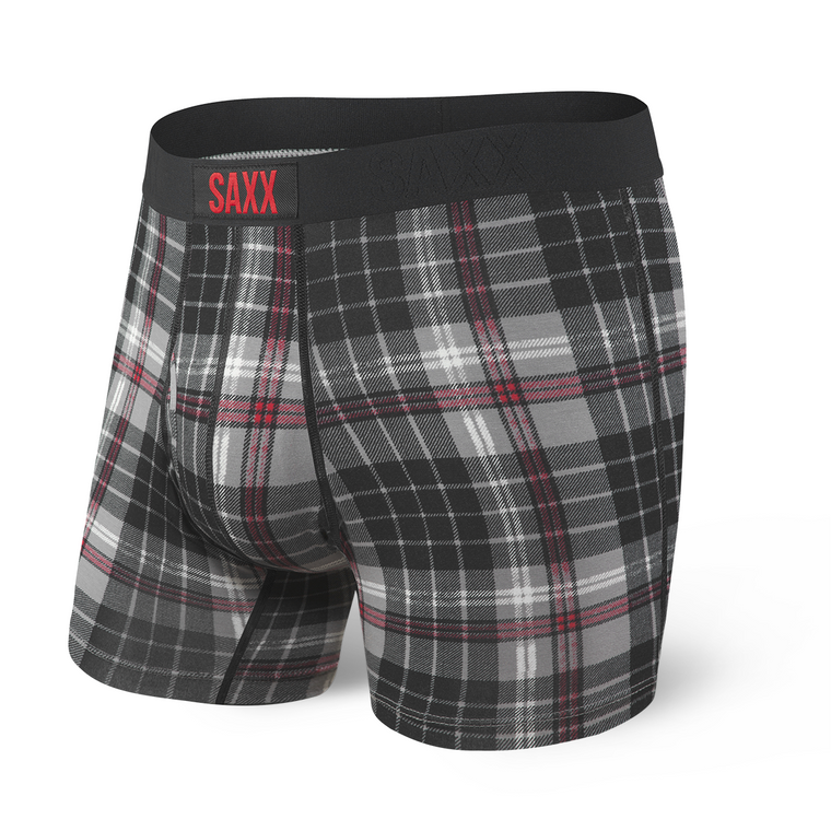 SAXX Ultra Boxer Brief - Gray Tartan