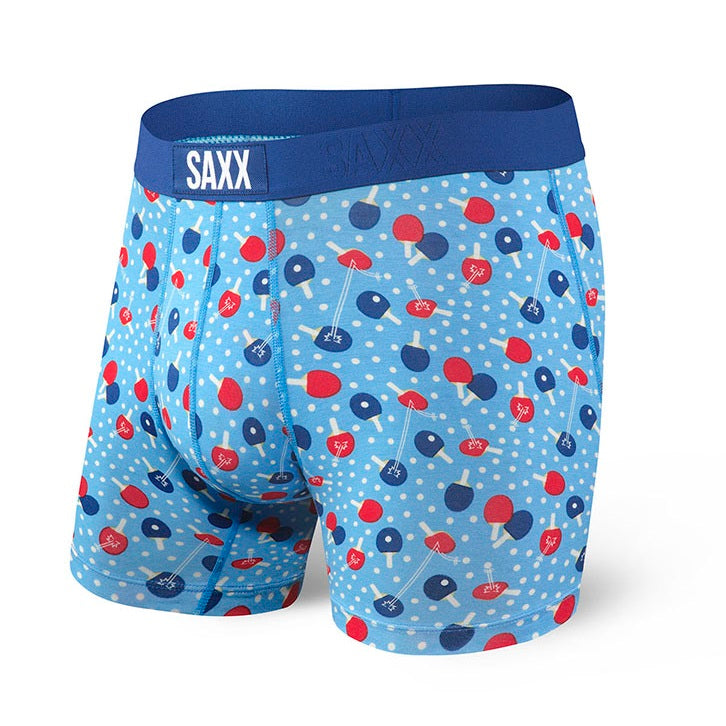 SAXX Vibe Boxer Brief - Blue Ping Pong