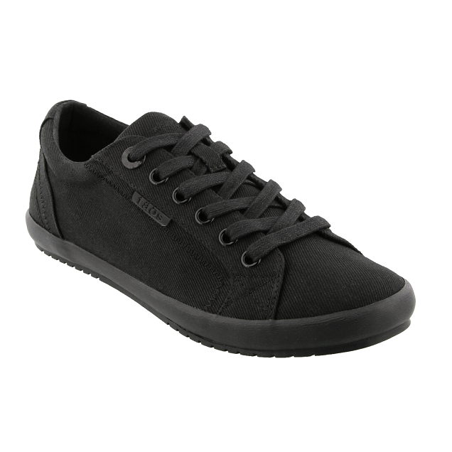 Women's Star Sneaker - Black on Black Canvas