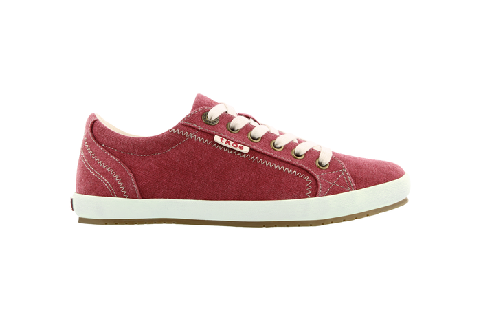 Women's Taos Star Sneaker in Ruby Red