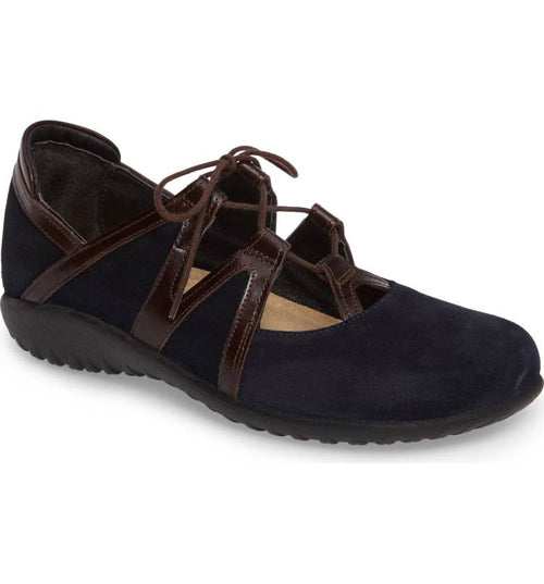 Women's Timu Ghillie Lace Flat - Blue Velvet Suede/Walnut