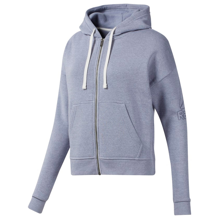 Reebok Women's Training Essentials Full Zip Sweatshirt - Denim Dust