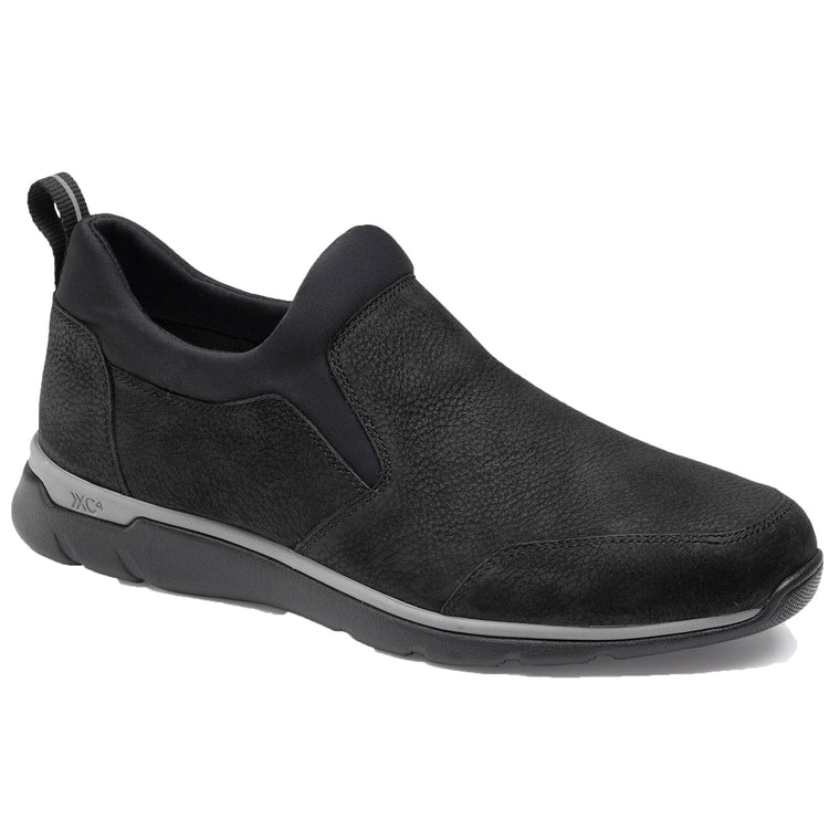 Men's Johnston & Murphy XC4 Prentiss Slip-On Shoes - Black Oiled Leather