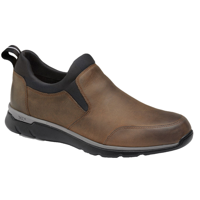 Men's Johnston & Murphy XC4 Prentiss Slip-On Shoes - Tan Oiled Leather