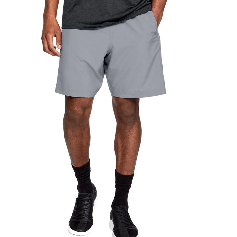 Under Armour Men's UA Woven Graphic Shorts - Steel/Black