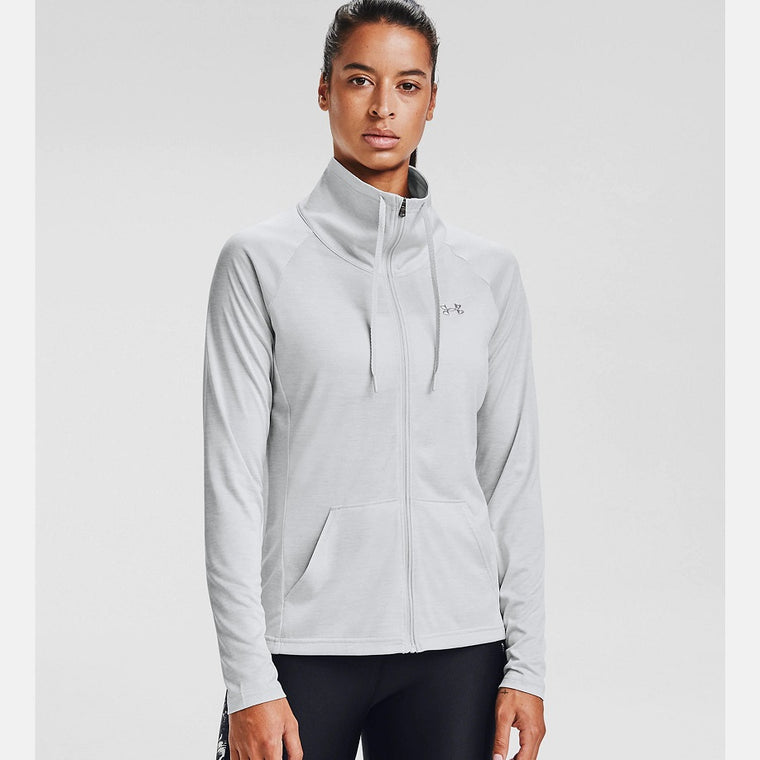 Under Armour Women's UA Tech Twist Full Zip - Halo Gray/Metallic Silver