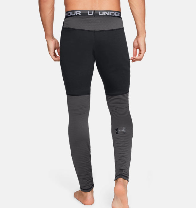 Under Armour Men's UA Twill Extreme Base Leggings - Black/Charcoal