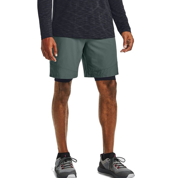 Under Armour Men's UA Vanish Woven Shorts - Lichen Blue/Black