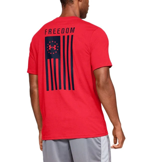 Under Armour Men's UA Freedom Flag Graphic T-Shirt - Red