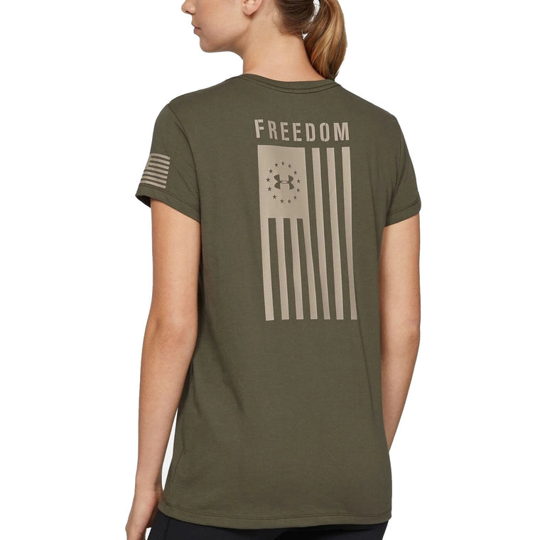 Under Armour Women's Freedom Flag Outdoor Short Sleeve Shirt - Marine OD Green