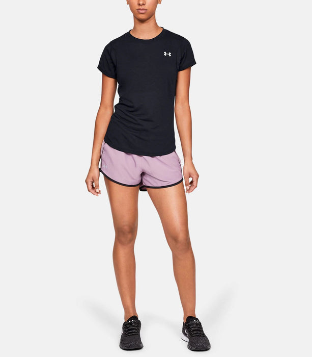 Under Armour Women's UA Streaker Short Sleeve - Black/Black