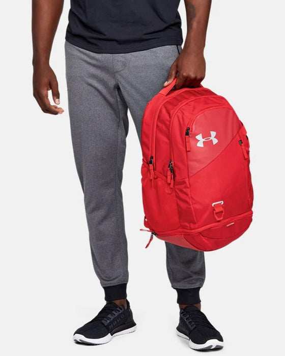 Under Armour UA Hustle 4.0 Backpack - Red/Silver
