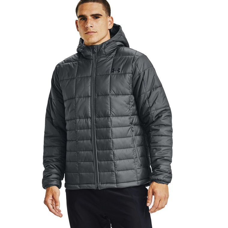 Under Armour Men's UA Armour Insulated Hooded Jacket - Pitch Gray/Black
