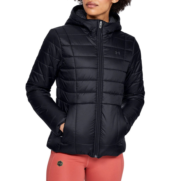 Under Armour Women's UA Armour Insulated Hooded Jacket - Black/Jet Gray