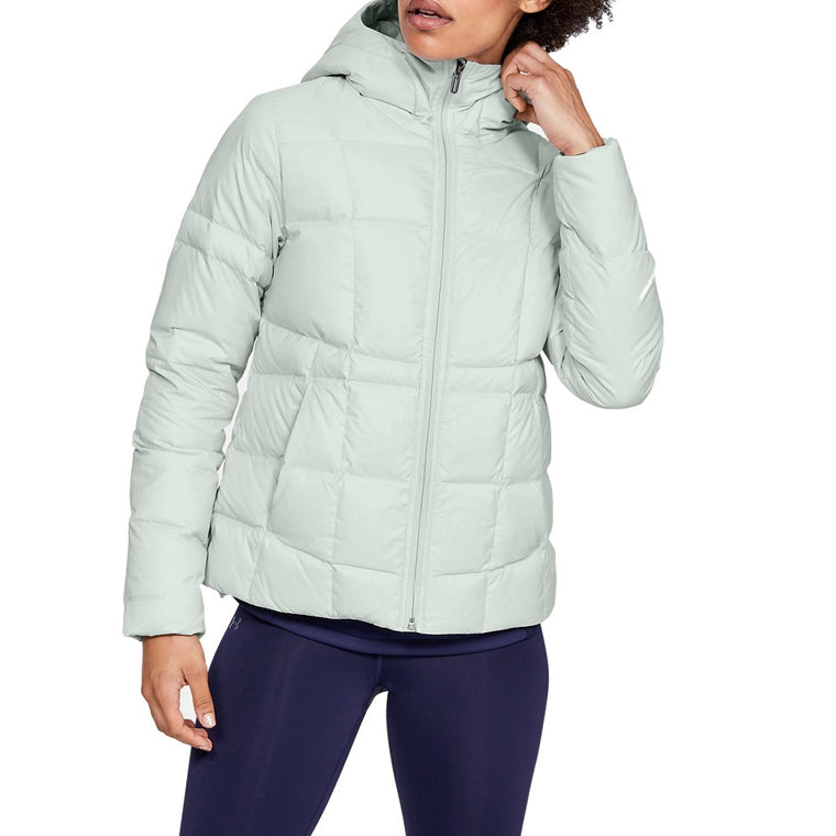 Under Armour Women's UA Armour Down Hooded Jacket - Halo Gray/Onyx White