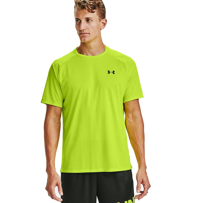 Under Armour Men's UA Tech 2.0 Short Sleeve T-Shirt - Green Citrine/Black