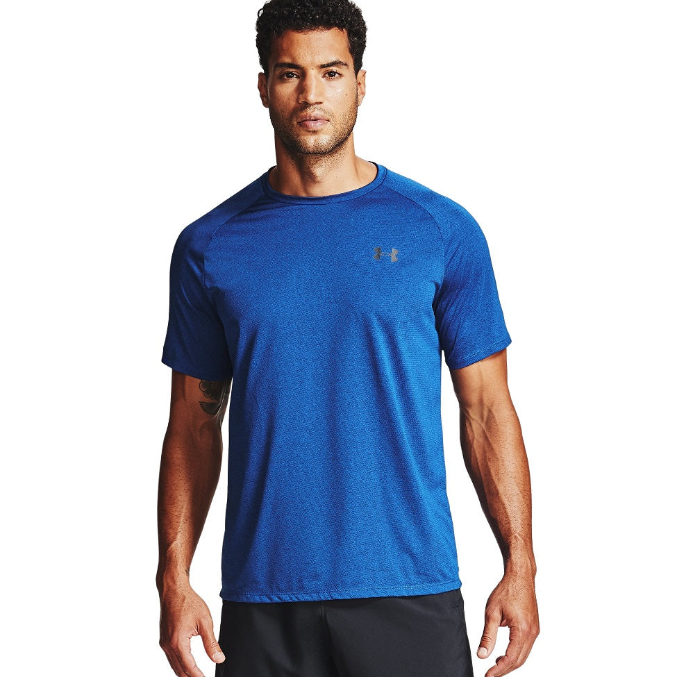 Under Armour Men's UA Tech 2.0 Short Sleeve T-Shirt - Royal/Black