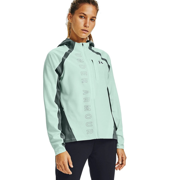 Under Armour Women's UA OutRun the STORM Jacket - Seaglass Blue/Lichen Blue/Reflective
