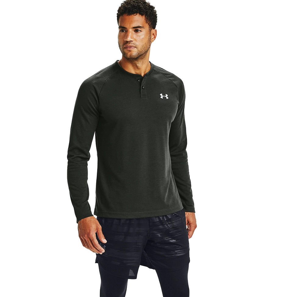 Under Armour Men's UA CGI Henley - Baroque Green/Mod Gray