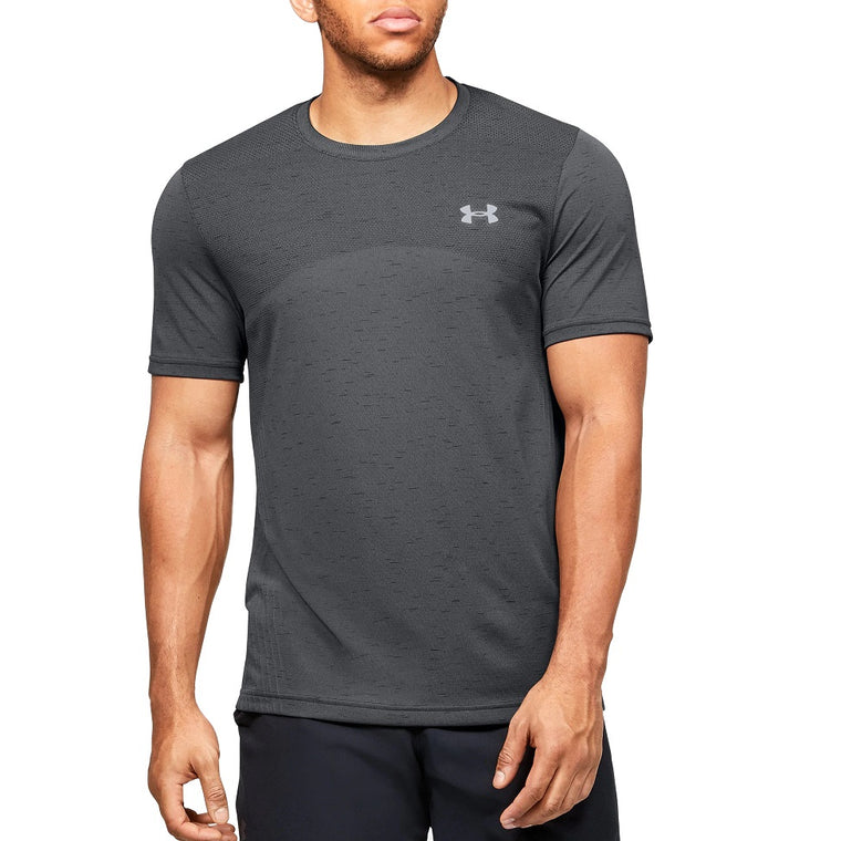 Under Armour Men's UA Seamless Short Sleeve - Pitch Gray/Mod Gray