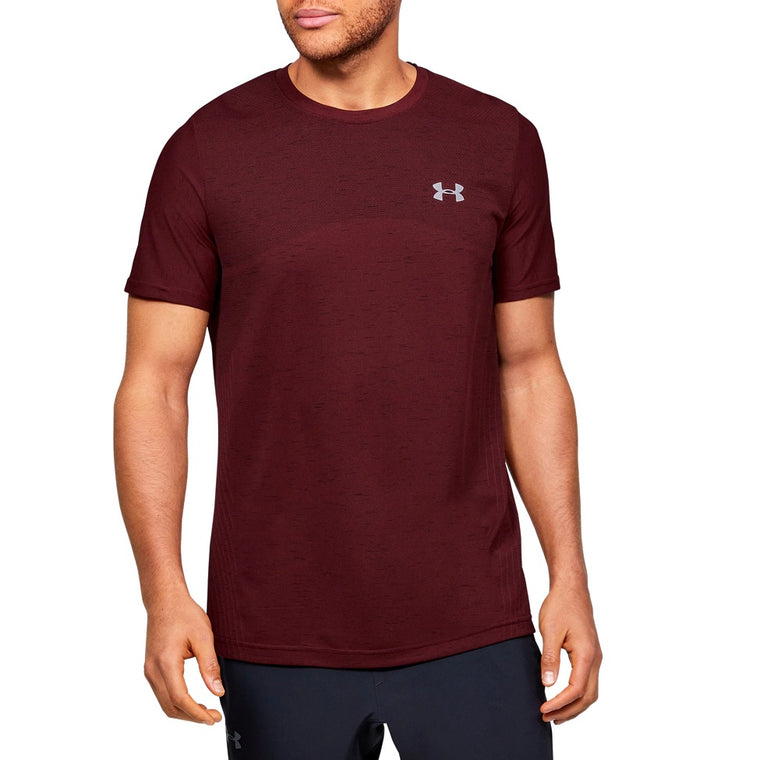 Under Armour Men's UA Seamless Short Sleeve - Cordova/Mod Gray