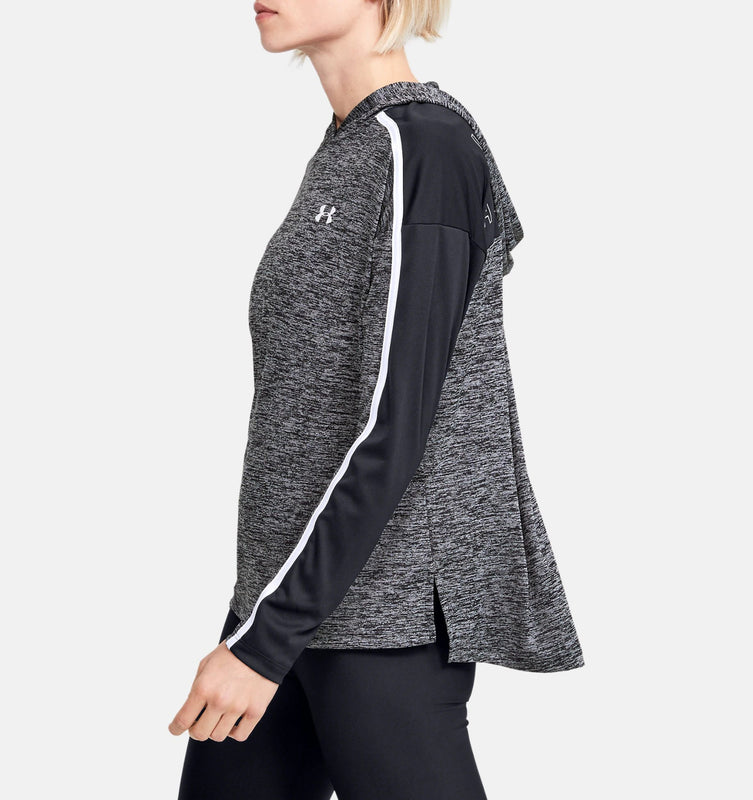 Under Armour Women's UA Tech Twist Graphic Hoodie - Black/Black/White