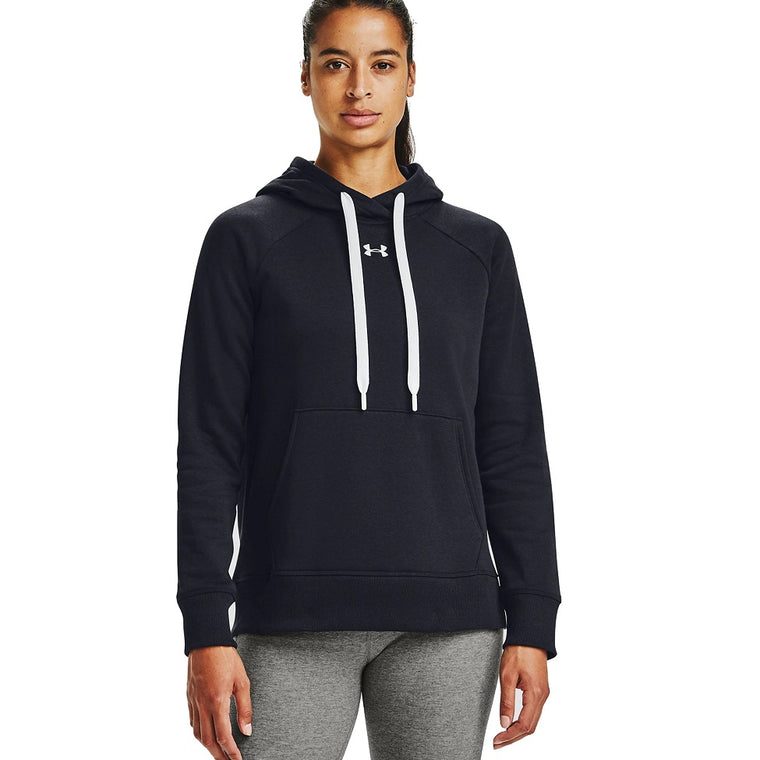 Under Armour Women's UA Rival Fleece HB Hoodie - Black/White