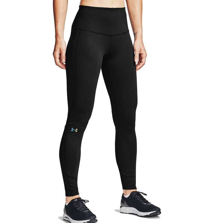 Under Armour Women's UA RUSH ColdGear Jacquard Leggings - Black/Iridescent
