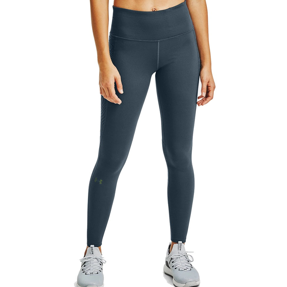 Under Armour Women's UA RUSH ColdGear Jacquard Leggings - Mechanic Blue/Iridescent