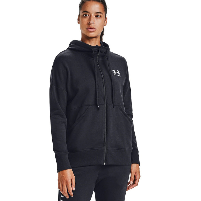 Under Armour Women's UA Rival Fleece Full Zip Hoodie - Black/White