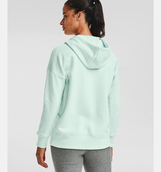 Under Armour Women's UA Rival Fleece Full Zip Hoodie - Seaglass Blue/White