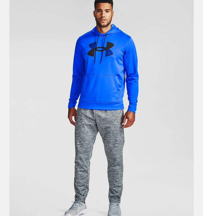 Under Armour Men's Armour Fleece Big Logo Hoodie - Emotion Blue/Black