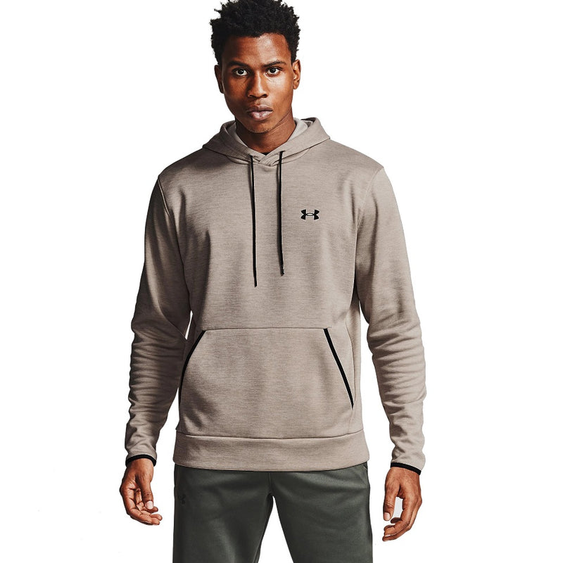 Under Armour Men's Armour Fleece Twist Hoodie - Highland Buff/Black