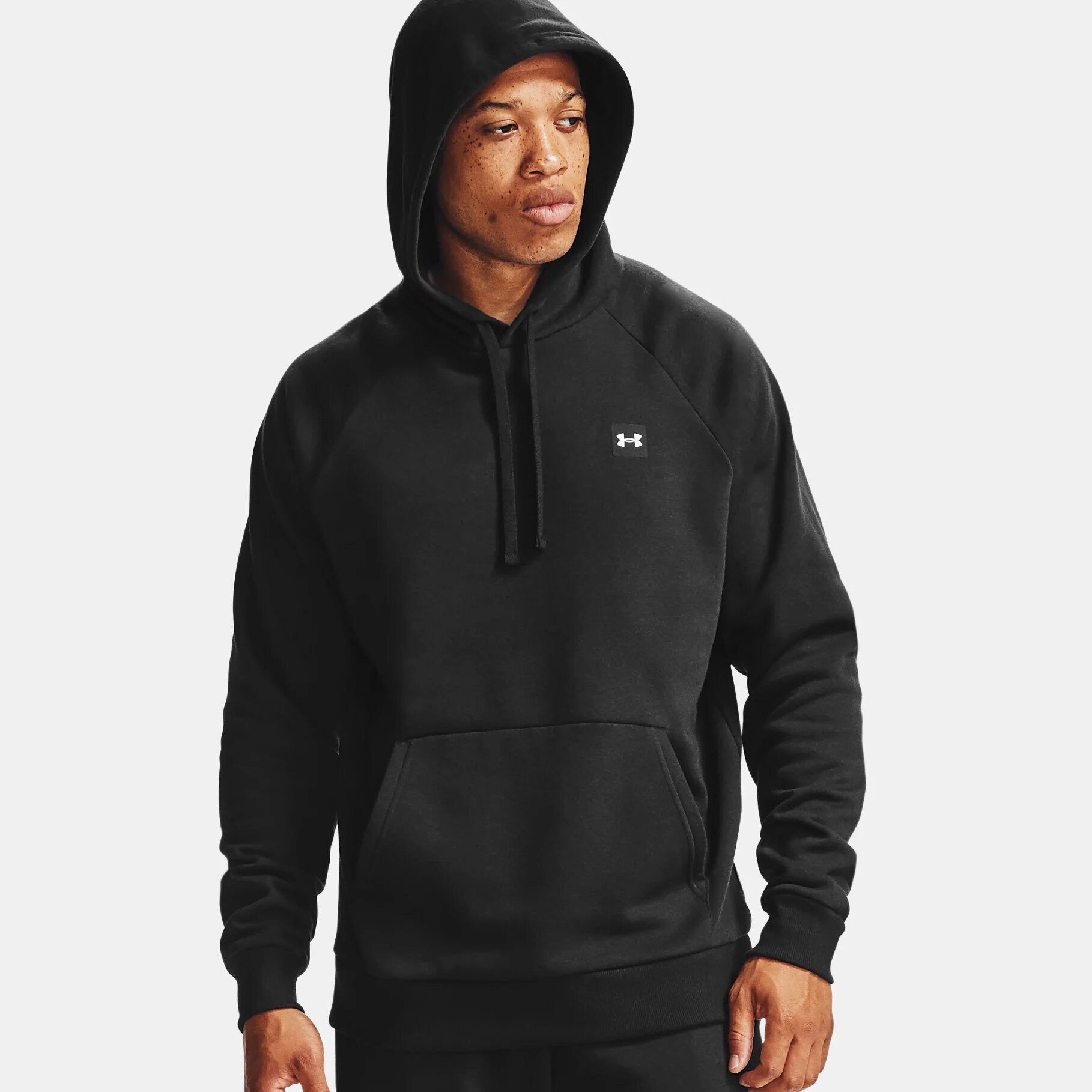 Under Armour Men's UA Rival Fleece Hoodie - Black/Onyx White