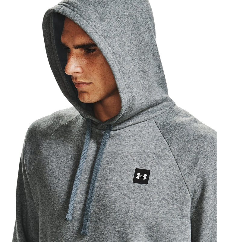 Under Armour Men's UA Rival Fleece Hoodie - Pitch Gray Light Heather/Onyx White