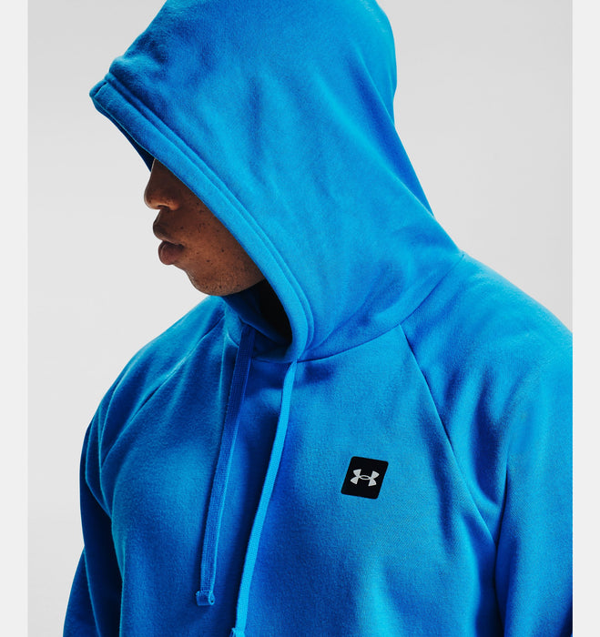 Under Armour Men's UA Rival Fleece Hoodie - Electric Blue/Onyx White
