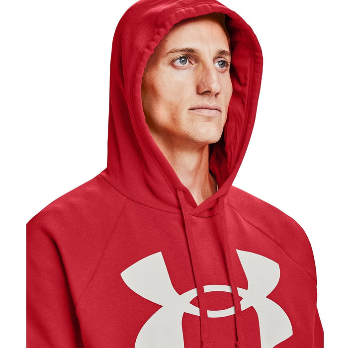 Under Armour Men's UA Rival Fleece Big Logo Hoodie - Versa Red/Onyx White