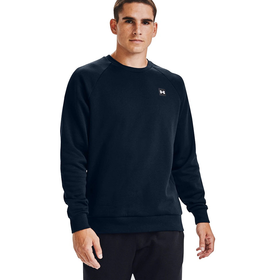 Under Armour Men's UA Rival Fleece Crew - Academy/Onyx White
