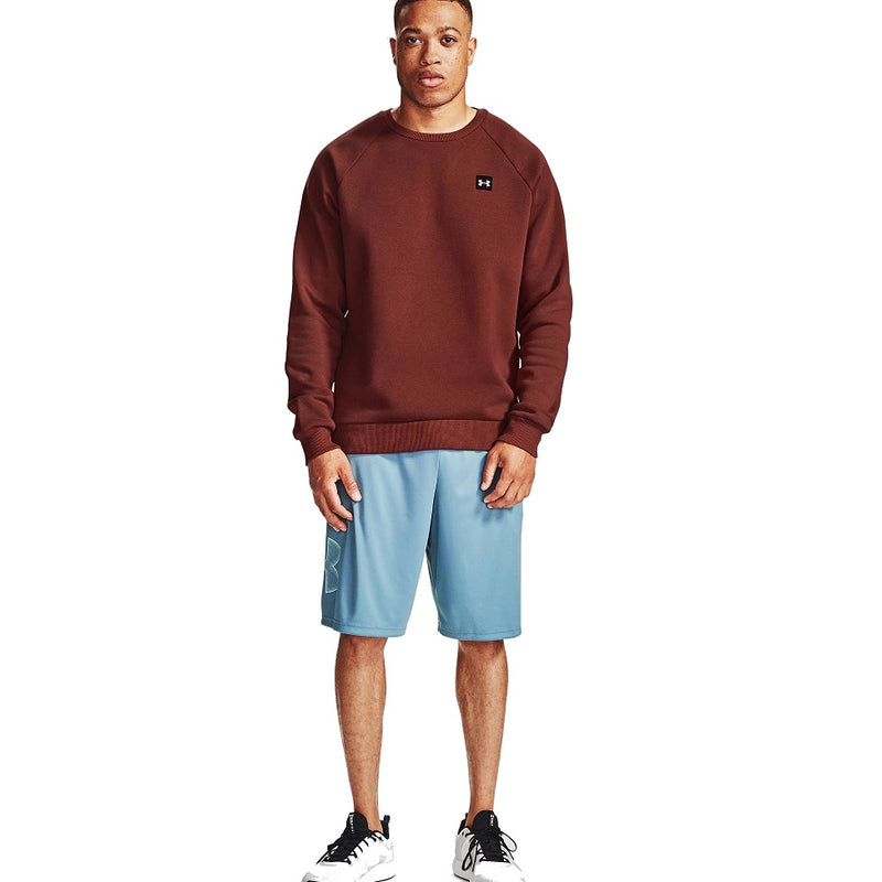 Under Armour Men's UA Rival Fleece Crew - Cinna Red/Onyx White