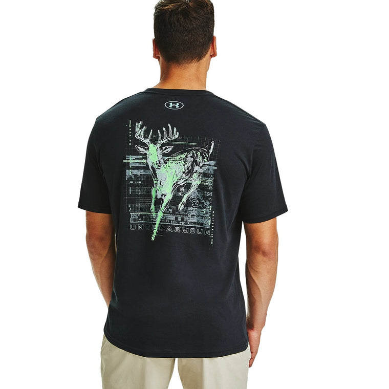 Under Armour Men's UA Whitetail Skullmatic T-Shirt - Black/Comet Green