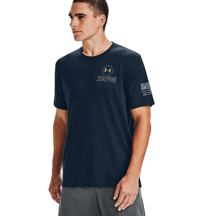 Under Armour Men's UA Freedom By Sea T-Shirt - Academy/Steel