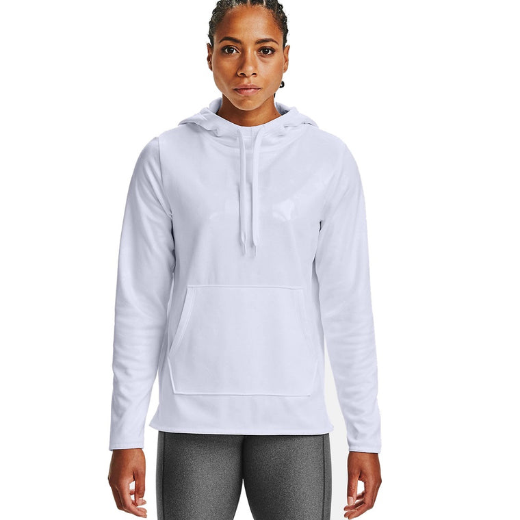 Under Armour Women's Armour Fleece Big Logo Camo Shine Hoodie - White