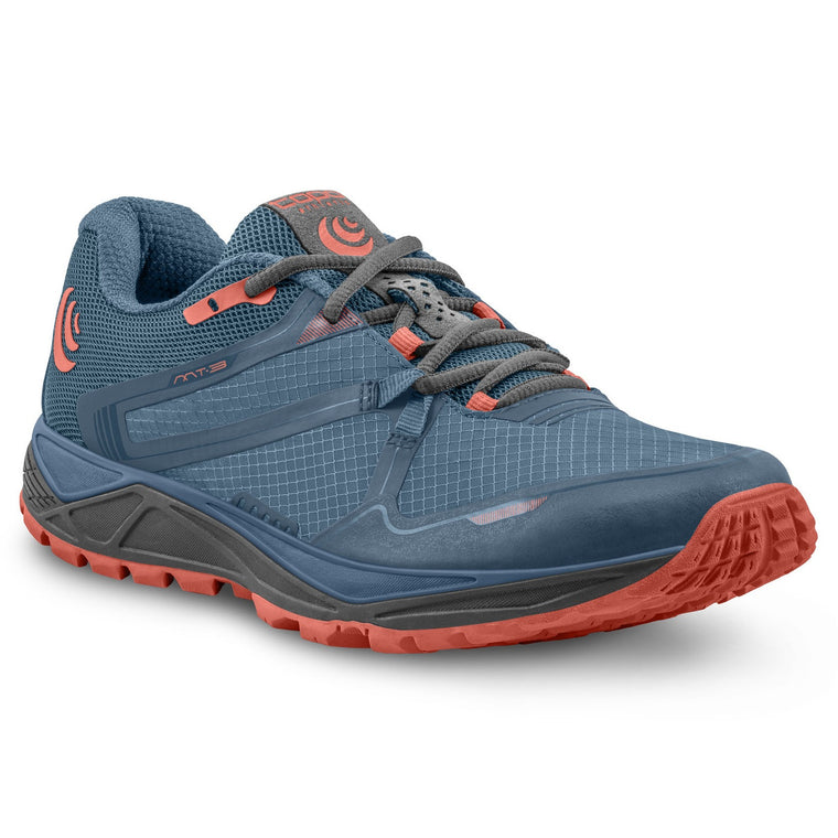 Women's Topo Athletic MT-3 Trail Running Shoes - Blue/Coral